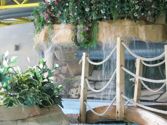Camping Bel Air : une cascade dans la piscine