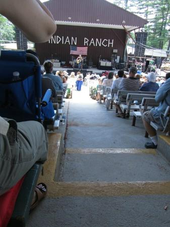 Indian Ranch: Our General Admission seats halfway back