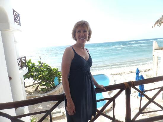 Playa Caribe: Overlooking the ocean