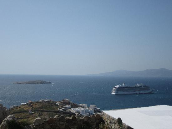 Tharroe of Mykonos Hotel: View from our friends' room...