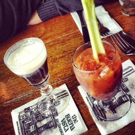 Buena Vista Cafe: Irish coffee and bloody Mary