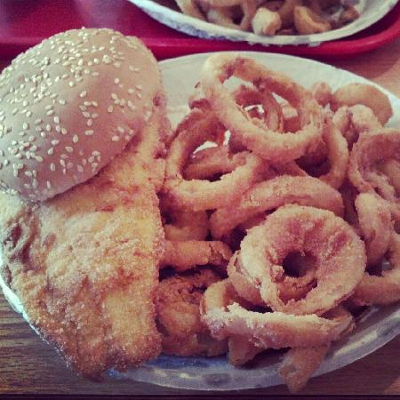 Doug's Fish Fry: Fish dinner! Get the onion rings with it!