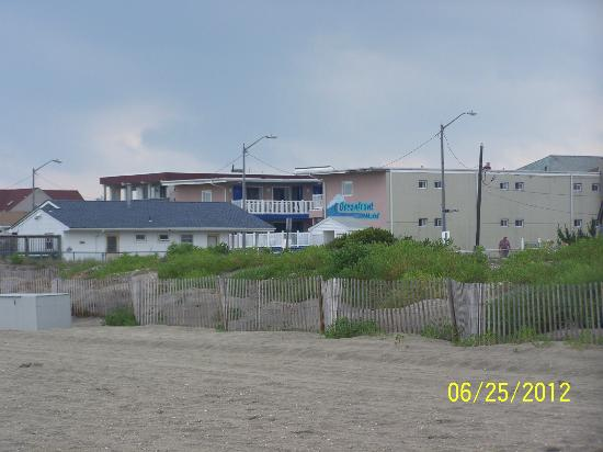 Ocean Front Motel: view from beach