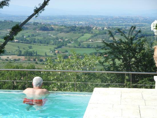 Villa Cicolina: The view from the glorious infinity pool