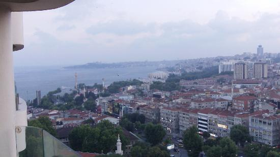 Conrad Istanbul Bosphorus: View from balcony