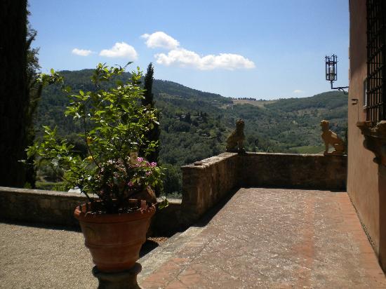 Vignamaggio: View of tuscan hillsides
