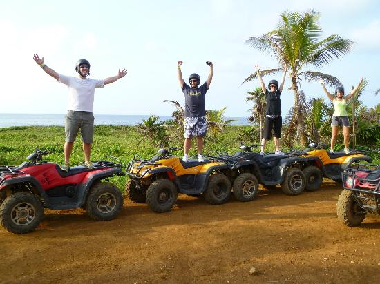 Monkeylala Trails ATV Tours: ATV includes driving along the beach