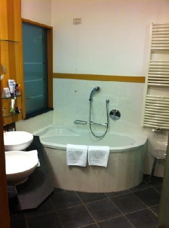 grande bagno con vasca e doccia separate  foto di lac salin spa, Disegni interni