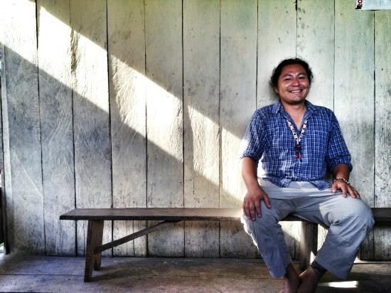 Napo Wildlife Center Ecolodge: Tour Guide Alex Aguinda. Just an amazing man! And subject of an upcoming documentary.