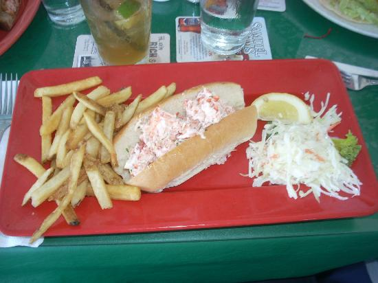 Tap & Grille: A rather skimpy lobster roll at $21.99.