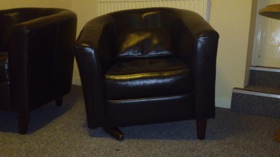 The Beeches Apartments: 3 legged chair.