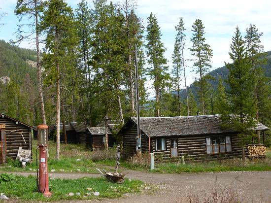 Covered Wagon Ranch: Row of guest cabins.