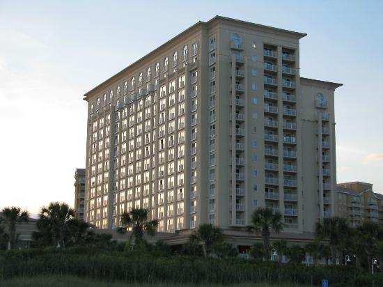 Myrtle Beach Marriott Resort & Spa at Grande Dunes: If you use your Marriott points , you will get a room that is along the side , not the front.
