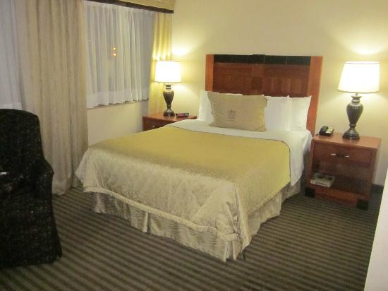 Monte Carlo Inn - Barrie Suites: Very comfortable and cozy bed