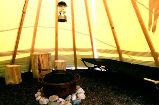 teepee interior picture of frontier cabins motel wall tripadvisor. Black Bedroom Furniture Sets. Home Design Ideas