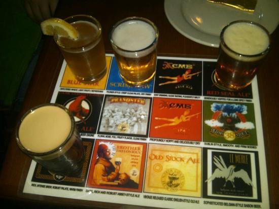 North Coast Brewing Company: 4 beer sampler