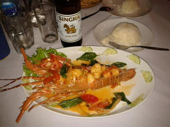 Charming restaurant : Lobster 'thai style'