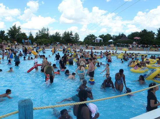 Wild Water Kingdom: Many people in the wave pool