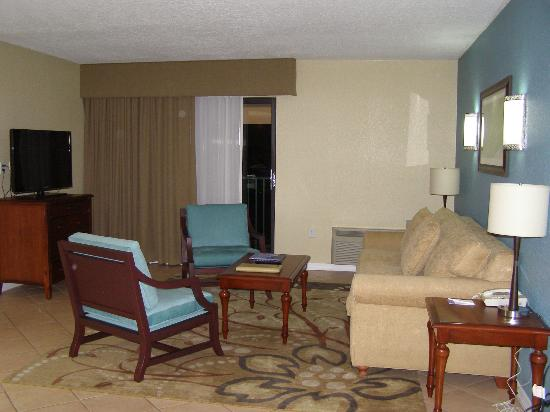 Wyndham Palm-Aire: Living room area