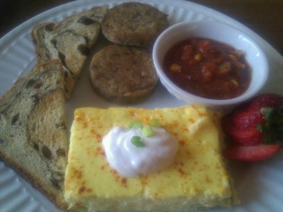 Etta's Place: Green Chile Eggs ~ custard-like and full of flavor