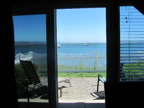 The Inn at Mavericks: our patio and view from the room