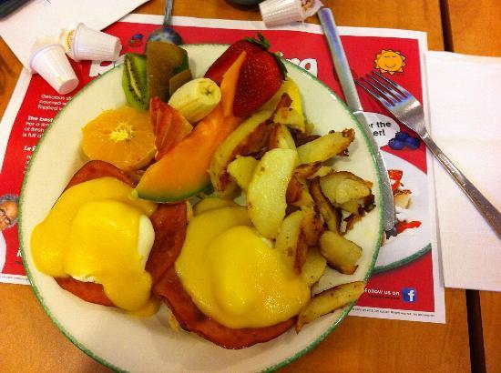 Cora - Sunridge Mall: Eggs ben & dictine