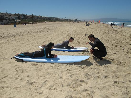 Manhattan Beach, CA: Surfing lesson