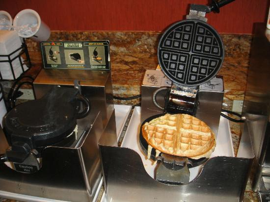 Comfort Inn & Suites Zoo SeaWorld Area: Waffle maker, different flavors everyday