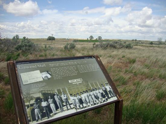 Minidoka Internment National Monument: Signs are posted throughout the monument detailing life for interned Japanese Americans