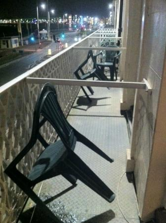 Premier Hotel: Balcony, nightime