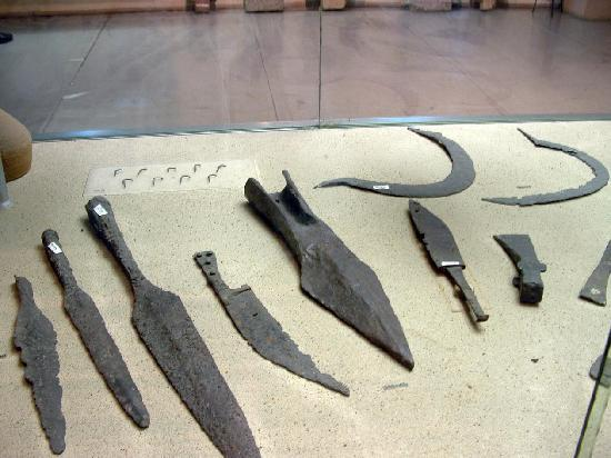 National History Museum: Bronze weapons and tools,