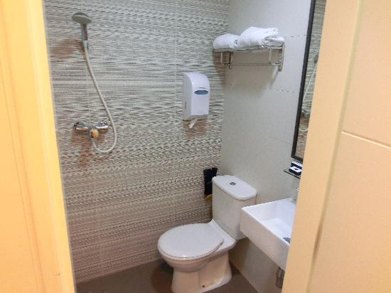 Value Hotel Nice: シャワールームとトイレ