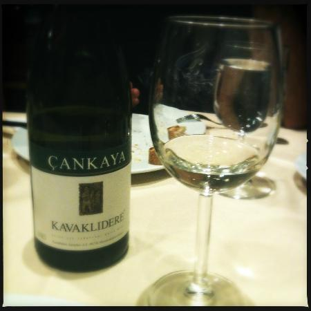 korfez restaurant: a very good white wine from Ankara. ( it said dry white wine, it's not at all dry, very rich ;)