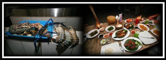 Beluga: Grilled seafood