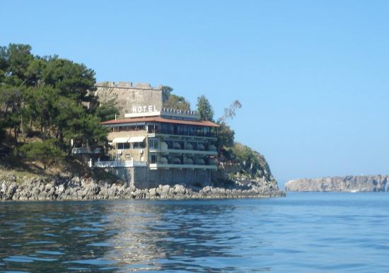Karalis Beach Hotel from the sea