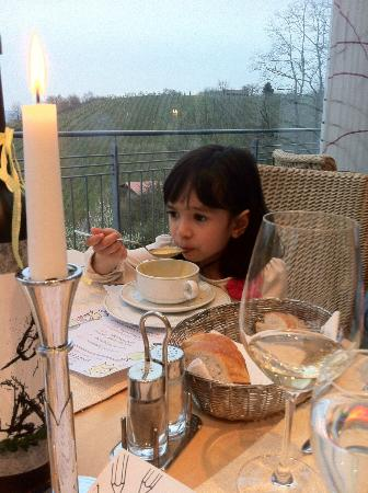 Hotel Und Gutsgaststatte Rappenhof: The kids enjoyed the fine dining. Excellent food.