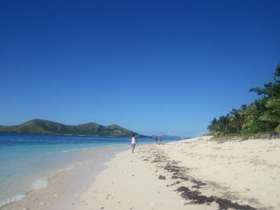 Mana Lagoon Backpackers: View on Castaway Island :D