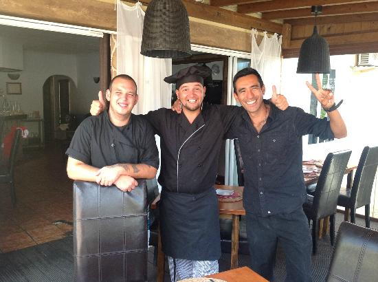 Ronald's: Chef Ruben (the Bald), Chef Jerry (the Loco) and Juan (the Slim)