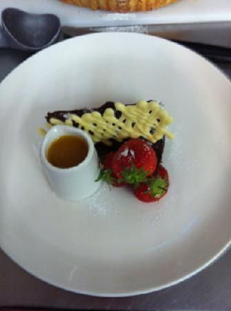 The Yorkshireman: chocolate torte with grand marnier sauce