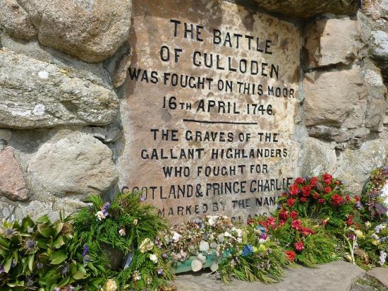 Culloden Battlefield: La lapide commemorativa.