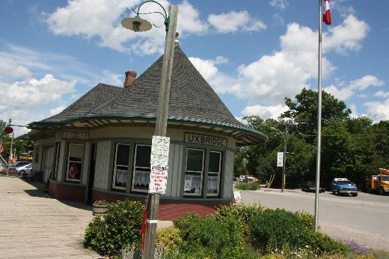 "York-Durham Heritage Railway: Uxbridge Station ""Witch's Hat"""