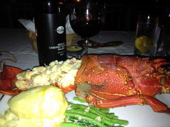 Taveuni Palms Resort: jumbo lobster (mind the red wine with it!)