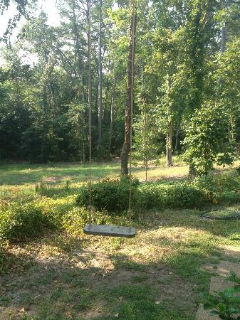 Holly Hill Homestead B&B: Garden with a swing.