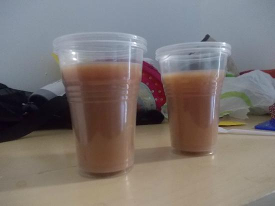 Sunland Hotel : HOT COFFEE SERVED IN PLASTIC CUPS