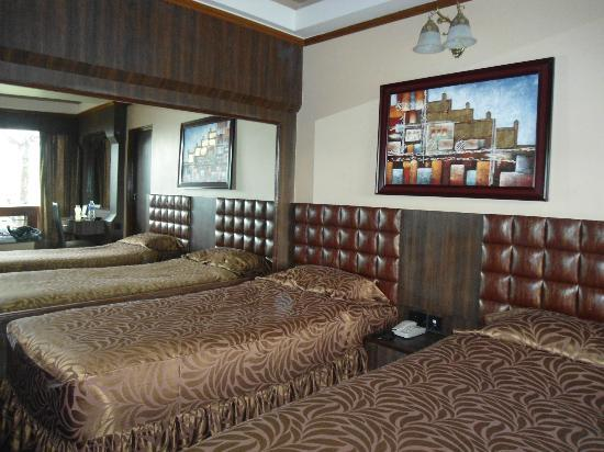 Blueberry Inn: The large mirror beside the bed makes it look spacious n stylish !
