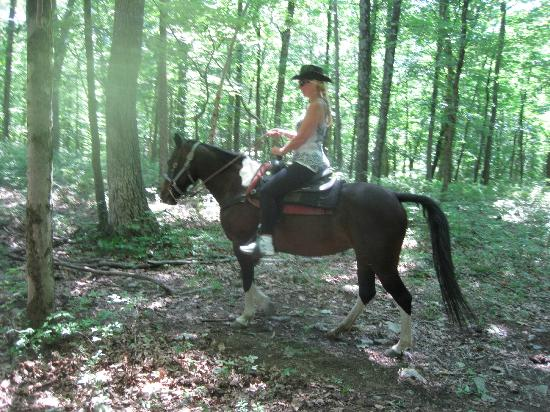 Malibu Dude Ranch: riding thru the woods with freedom, we didnt have to stay in line. Unless you want to