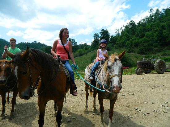 Dutch Creek Trails: Brandy and Kyleigh enjoying the ride June 2012