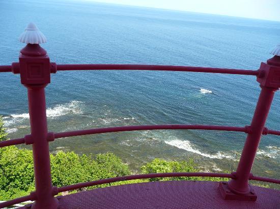 Pointe-a-la-Renommee: vue du haut du phare