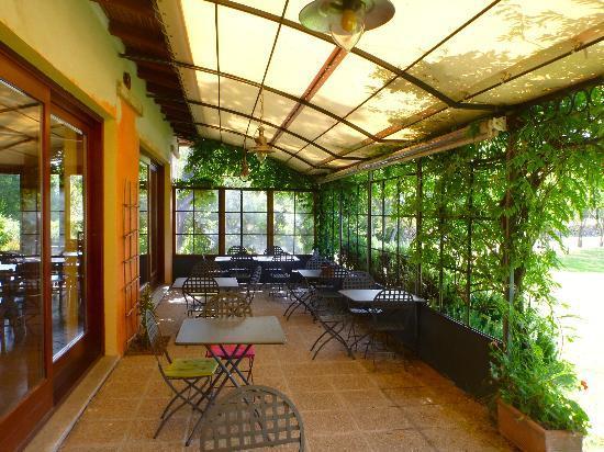 Agriturismo Li Scopi : Breakfast on the patio