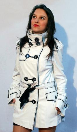 Kusadasi Market: White Leather jacket